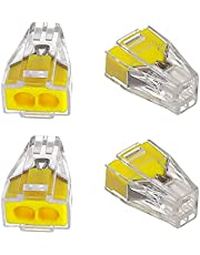 Fielect Electrical Wire Connectors Wiring Terminal Compact Splicing Connector PCT-102 13x20x9mm 25Pcs