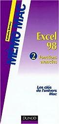 Excel 98, volume 2. Fonctions avancées