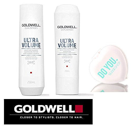 Bodifying Shampoo (Goldwell Dualsenses Ultra Volume Bodifying Shampoo & Conditioner DUO Set (with Sleek Compact Mirror) (10.1 oz / 300ml Kit))