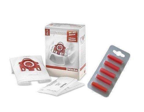 Miele Fjm Hyclean Vacuum Cleaner Dust Bags Filters & Air Freshener Sticks Pack Of 4 ()