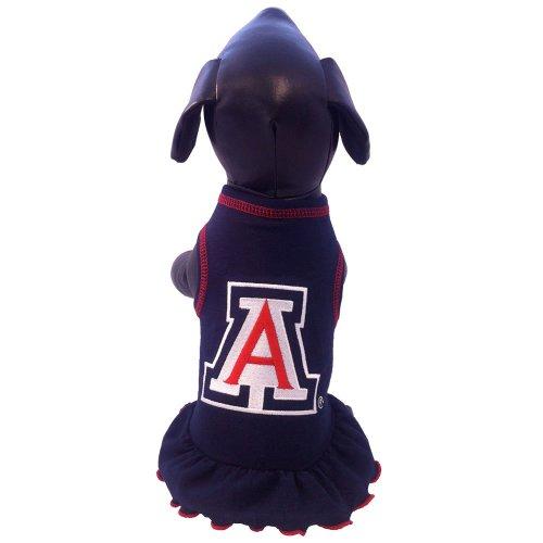 All Star Dogs NCAA Arizona Wildcats Cheerleader Dog Dress, X-Small - Ncaa Cheerleader Uniforms