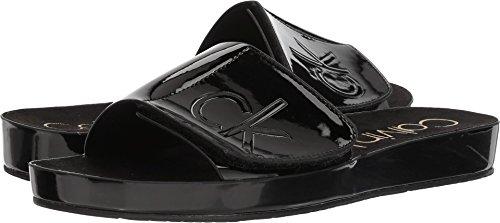 Calvin Klein Women's Marlina Flat Sandal (8, Black)