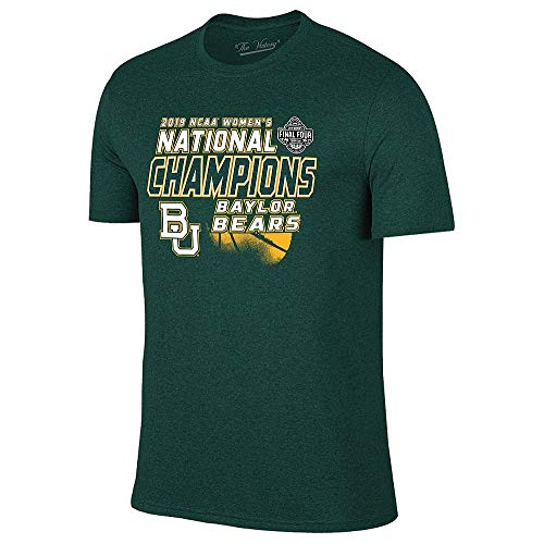 Elite Fan Shop Baylor Bears Womens National Basketball Championship Tshirt 2019 Heather Green - M