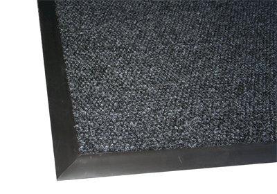 Berber Supreme Entrance Mat Steel Blue 5' x 10' With black edging