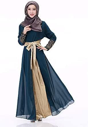 Blue Chiffon Casual Dress For Women