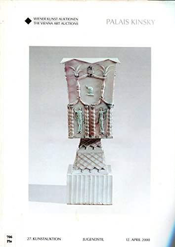 Weiner Kunst Auktionen (Vienna Art Auctions), Palais Kinsky, Kunstauktion (Art Auction), Jugendstil (Art Nouveau), April 2000