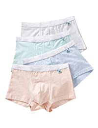 Boys Boxer Briefs Teens Underwear Cotton Boxer Shorts Sports 4 Pack,10-18Y