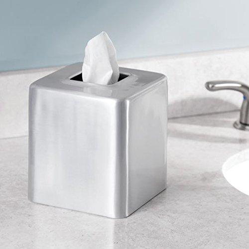 Mdesign Rustproof Aluminum Facial Tissue Box Cover Holder For Bathroom Vanity Countertops