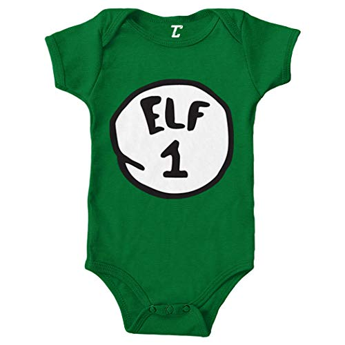 (Elf 1 - Elves North Pole Bodysuit (Kelly, Newborn))