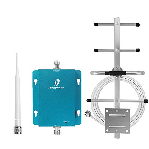 Cell Phone Signal Booster Repeater Amplifier for Home and Office - 850MHz Band 5 Repeater with Whip Antenna and Outdoor Yagi Antenna - Enhance 3G GSM Signal (Cell Phone Signal Booster Amplifier Repeater Gsm 850)