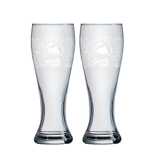 Boelter Brands Shock Top Pub Pilsner Set, 16-ounce, 2-Pack (Shock Top Beer Glass)