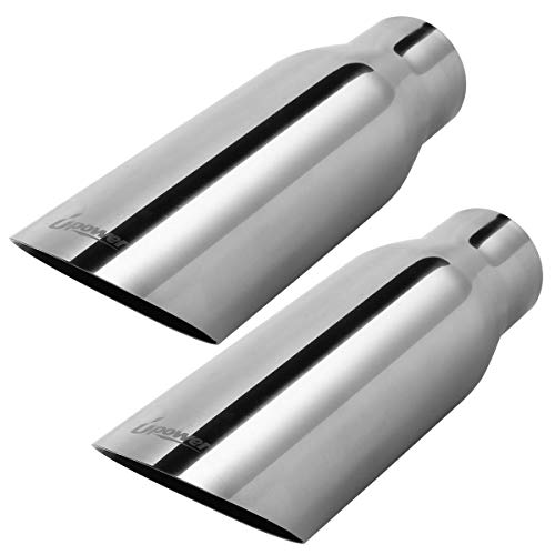 Upower Pack of 2 Angle Cut 2.5 Inch Inlet 3.5