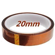 Sonline 20mm 33m 100ft Kapton Tape High Temperature Heat Resistant Polyimide