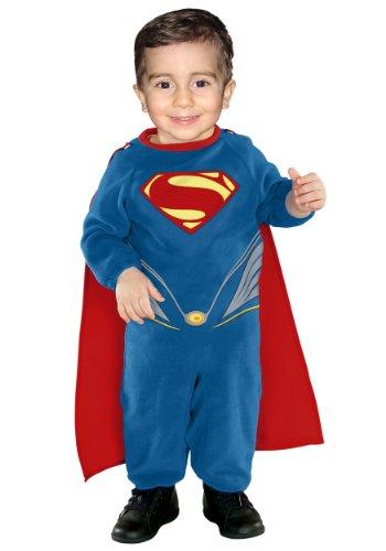 Baby Boys' Superman Ez On Romper Infant