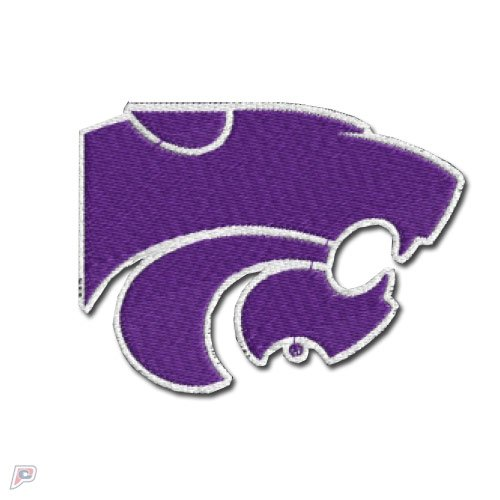 Kansas State Wildcats Primary Logo Iron On Embroidered Patch Medium