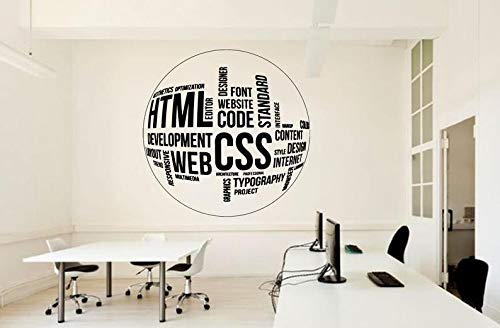 CECILIAPATER Office Wall Decal Web Code CSS Business Design Business Worker Inspire Decoration Marketing Stickers Mural Unique Gift 1920RE