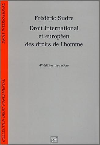 Livre gratuits en ligne Droit international et européen des droits de l'homme pdf, epub