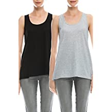 EttelLut Loose Fit Relaxed Flowy Knit Tank Top: Athletic Workout Jersey Sexy Cheap Pack