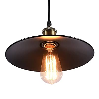 MY CANARY Vintage Industrial Barn Loft Antique Hanging Pendant Light, Rustic Metal Warehouse Ceiling Chandelier Lamp, Overhead Light Fixtures Lighting
