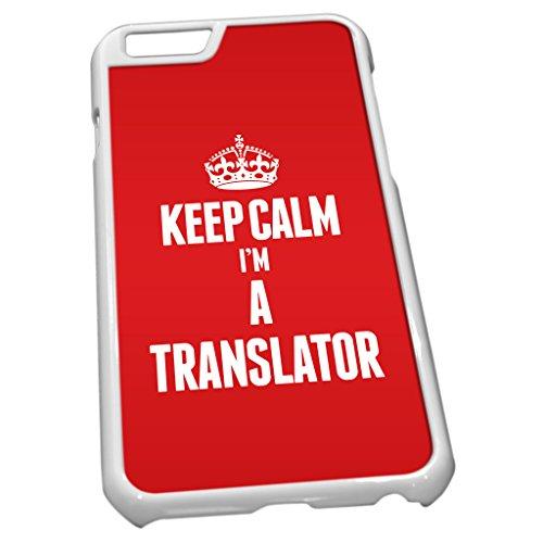 Weiß Schutzhülle für iPhone 62697rot Keep Calm I 'm a Übersetzer