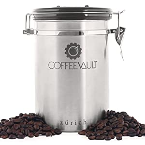 Coffee Vault Coffee Canister Airtight - Freshness Protected. Coffee Canister with Scoop