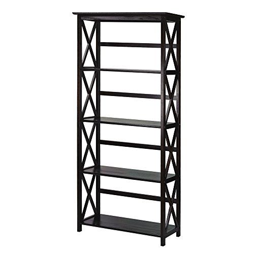 Casual Home 324-53 Montego 5-Tier Bookcase, - Open Bookshelf