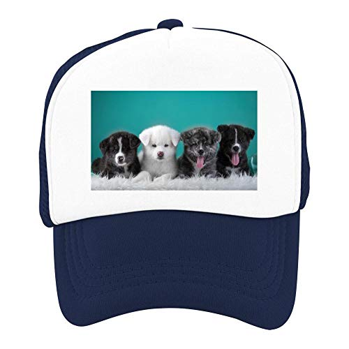 EThomasine Kids Girls Boys Mesh Cap Trucker Hats Akita Adjustable Hat Navy by EThomasine