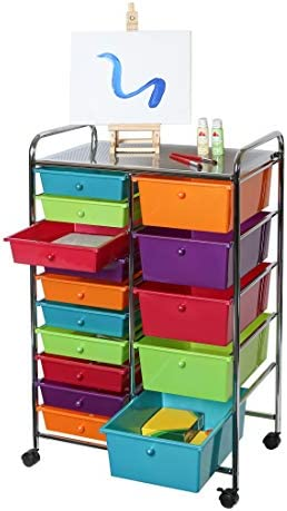 Seville Classics 15 Drawer Pearlescent Multi Color product image