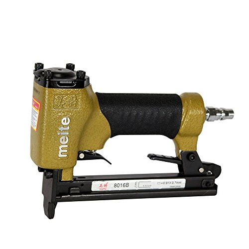 meite 8016B Upholstery Stapler-21 Gauge 1/2-Inch Crown 1/4-Inch to 5/8-Inch Pneumatic Fine Wire Stapler
