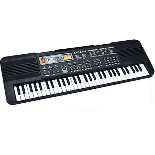 DUWEN Keyboard Children's Keyboard 61 Key Beginner 3-6-10-12 Years Old With Microphone Early Childhood Music Enlightenment Toys by DUWEN