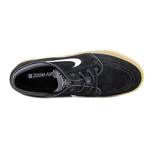 Nike Zoom Stefan Janoski Zapatillas de skateboarding, Hombre Negro / Blanco / Marrón (Black / White-Gum Light Brown)