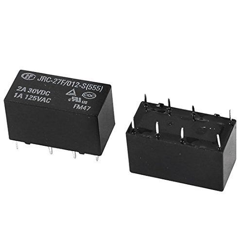 Itim DC 12V EbuyChX a15060100ux0111 Coil 8 Pins Mini DPDT Electrical PCB Power Relay 2 piraso