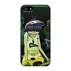 Shock Absorption Cell-phone Hard Covers For Iphone 5/5s (CTM20060CMJv) Allow Personal Design Vivid Gorillaz Band Pictures