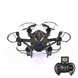 Remote Control Helicopter Drone Mini Quadcopter RC Toy Remote Control Aircraft 4 Channel 2.4GHz 6-Axis Gyro Helicopter With LED Headless Mode Hexacopter White