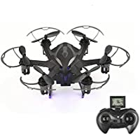 RC Quadcopter Helicopters with Camera HD 720P Remote Control Quadcopter Drone with LED Rechargeable 4CH 6-Axis Gyroscope 2.4 GHz(4G SD Card & SD Card Reader Included)