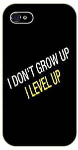Case For Iphone 4/4S Cover I don't grow up, I level up - black plastic case / Nature, Animals, Places Series, Hakur