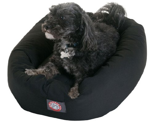 24 inch Black Bagel Dog Bed By Majestic Pet Products