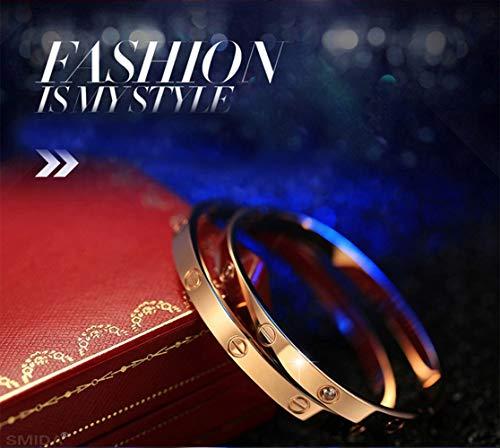 BESTJEW Womens Love Bracelet Stainless Steel Cuff Bangle Bracelet with Screwdriver 6.7Inch Gold by BESTJEW (Image #6)