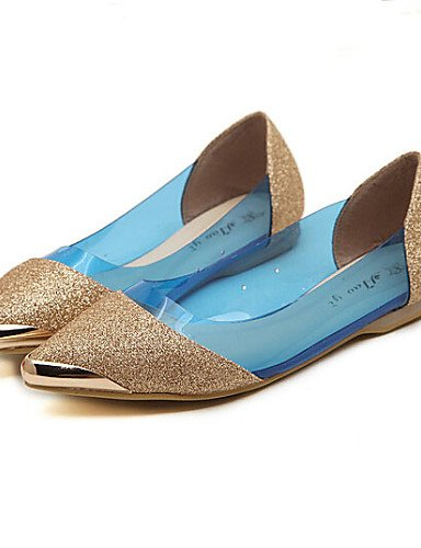 eu35 de plano pink zapatos rosa Casual negro us5 Toe PDX uk3 cn34 cerrado azul de talón Flats piel mujer RHaxdxAw
