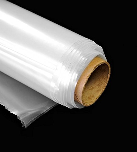 Greenhouse Clear Plastic Film Polyethylene Cover 6 Mil (12 ft wide x 20 ft long)