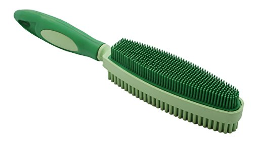 Sweepa Duo Rubber Brush For Grooming, Cleaning, Lint And Fur Removal. Home And Auto. (Salad-Green) (Brush Rubber Lint)