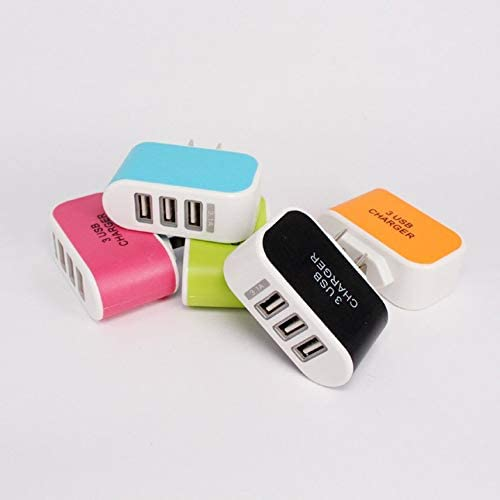 Candy Color 3usb Charger 2a Current Output Light 3usb Charger USB Charger Head