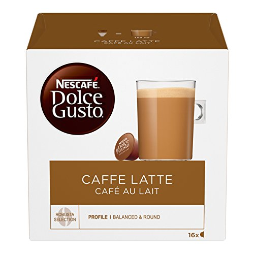 Nescaf? Dolce Gusto CAF? Au Lait (Pack of 3, Total 48 Capsules)