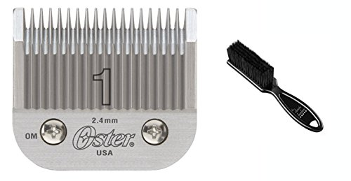 Oster Professional 76918-086 Size 1 Hair Clipper Replacement Blade & Classic Barber Blade Brush