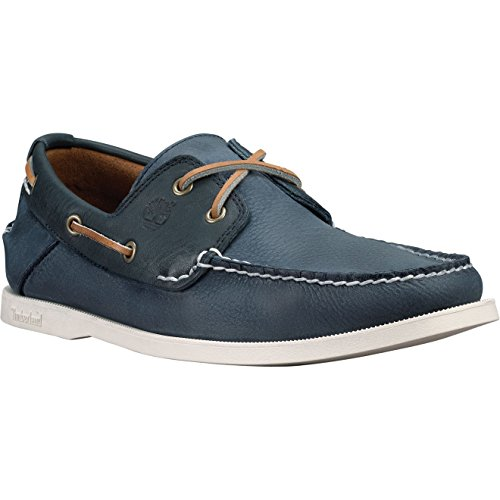 Timberland Men's Heritage CW Two-Eye Boat Shoe Blue Shoe (Timberland 2 Eye)