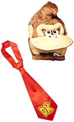 Disguise Men's Super Mario Donkey Kong Costume Kit, Brown, One