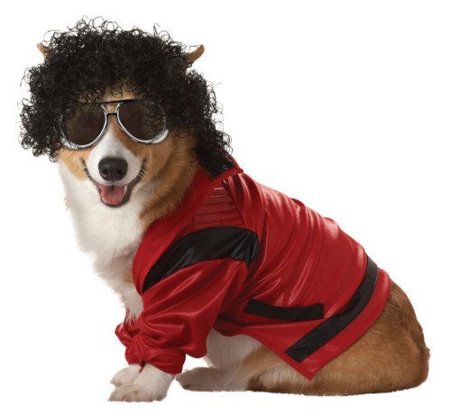 Pup-A-Razzi Pop King Dog Costume, X-Small, Red/Black]()