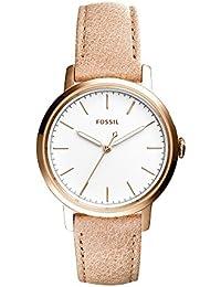 Women's ES4185 Neely Three-Hand Sand Leather Watch