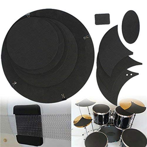 BangBang 10Pcs Bass Snare Drum Sound off Mute Silencer Drumming Rubber Practice Pad Set