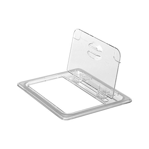 Polycarbonate Solid Food Pan Covers - Cambro 20CWL 135 Clear Camwear Half Size Solid Food Pan FlipLid